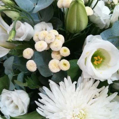fleurs raquette deuil