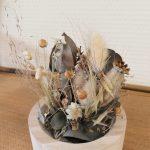 fleurs sechees cloche