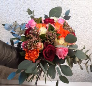 bouquet roses multi