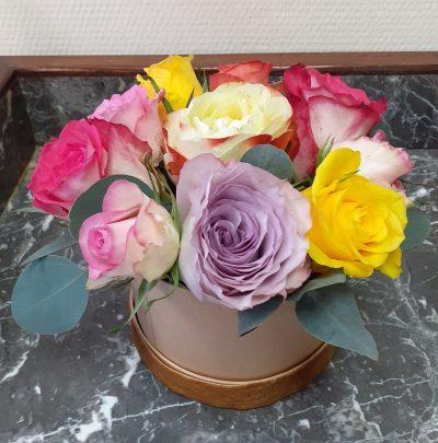 coffret roses naturelles