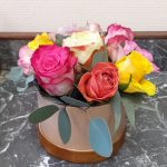 coffret roses multicolores