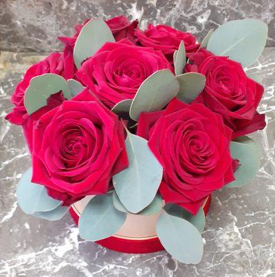 coffret roses rouges
