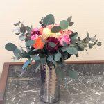 vase roses multi