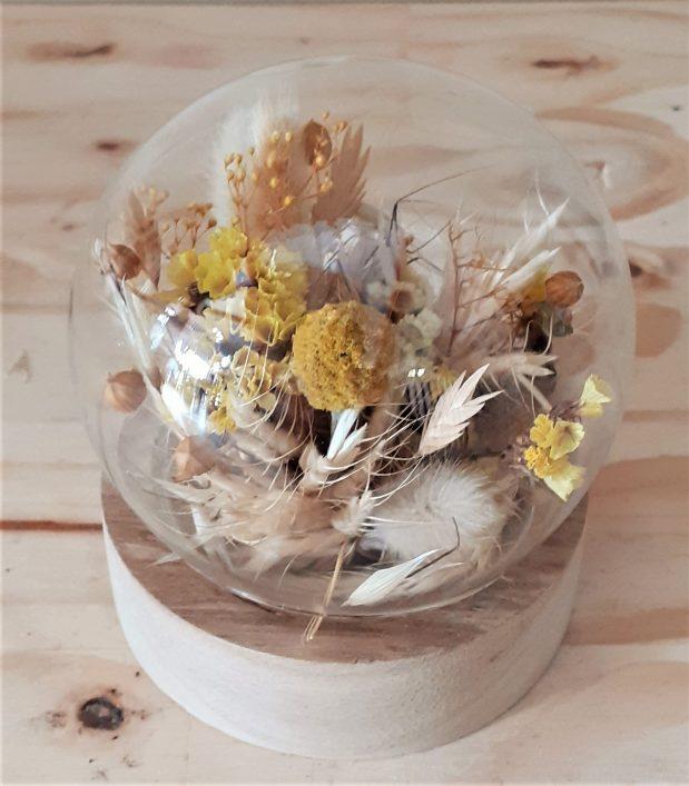 globe fleur sechee