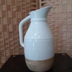 pichet céramique blanc