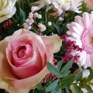 fleurs coussin alleluia